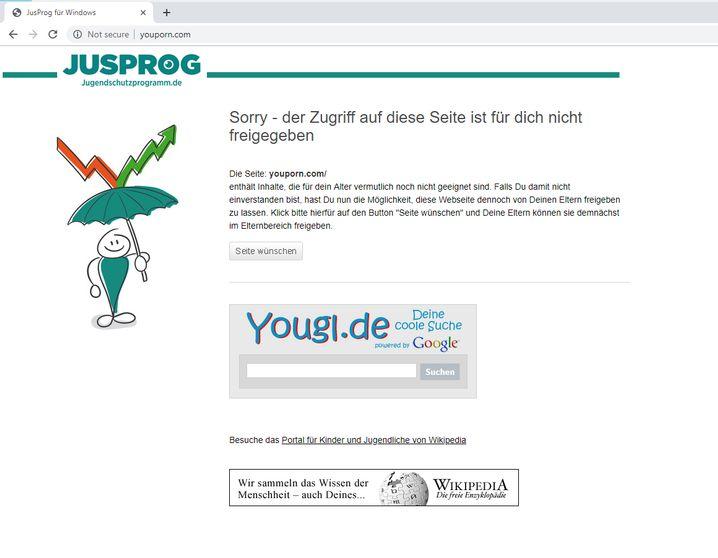 JusProg-Sperre