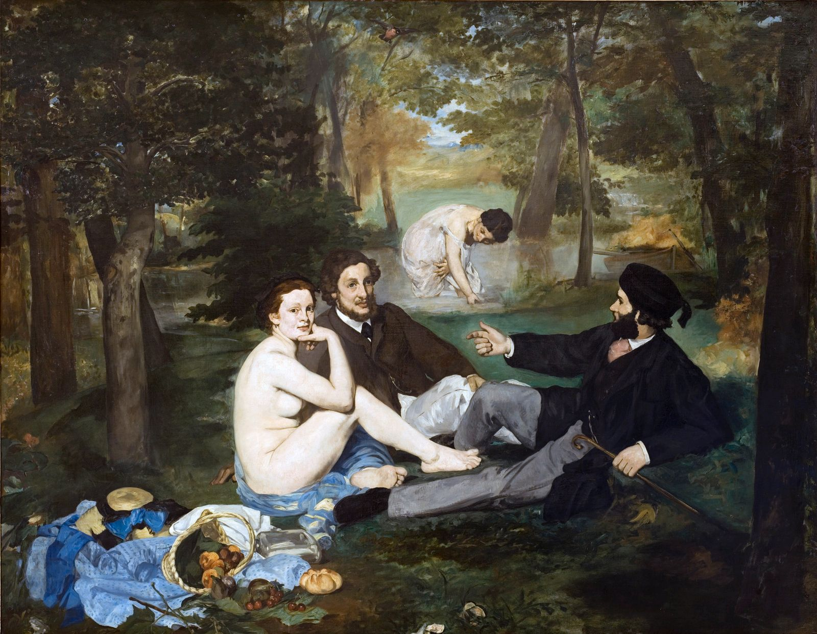 Luncheon on the Grass (Le Déjeuner sur l'herbe) by Édouard Manet