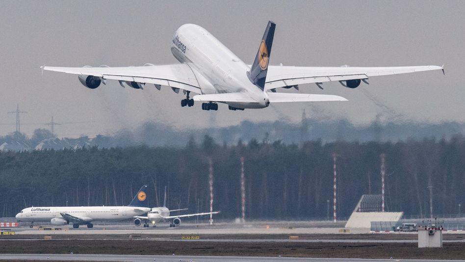 A380 in Frankfurt (Symbolbild)