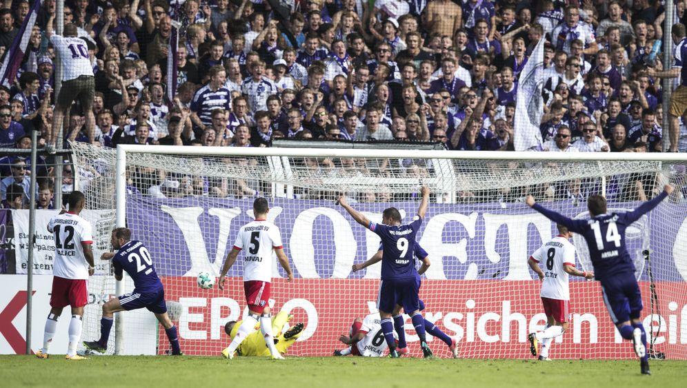 DFB-Pokal: HSV-Blamage in Überzahl, Leipzig souverän