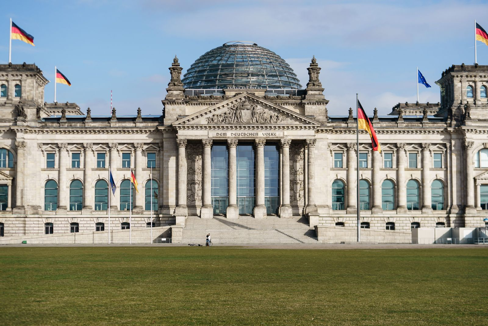 Empty place in front of Reichstag building in Berlin, Germany - 19 Mar 2020