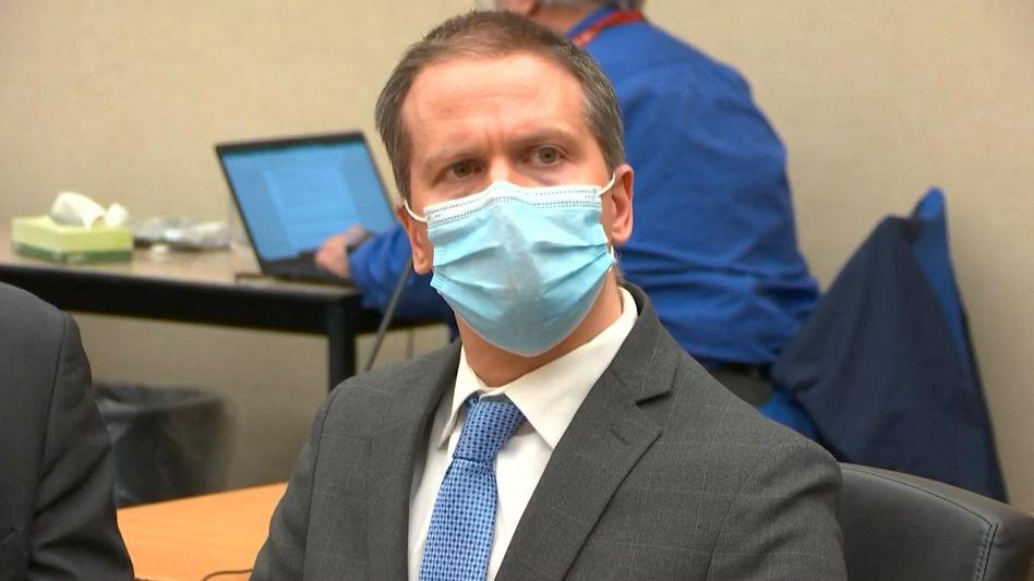 Ex-Polizist Derek Chauvin während der Urteilsverkündung in Minneapolis