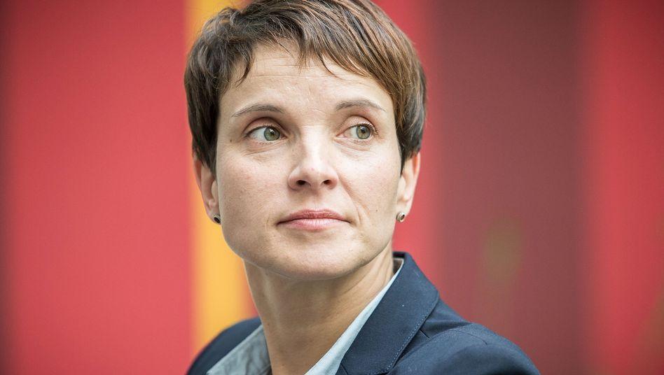 """AfD-Bundeschefin Frauke Petry: """"Notfalls von der Schusswaffe Gebrauch machen"""""""