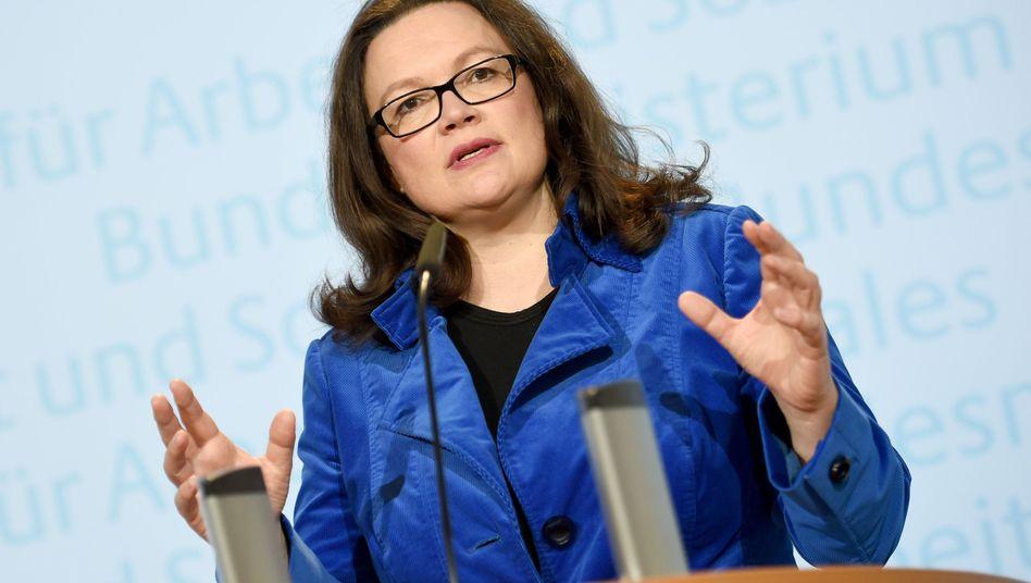 Arbeitsministerin Nahles
