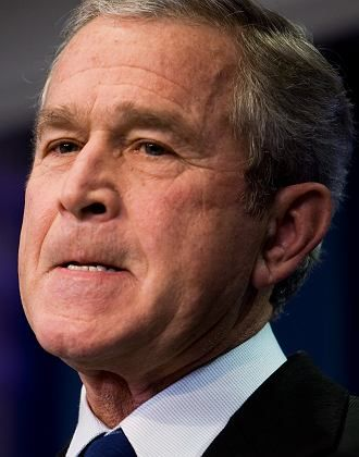 """US President George W. Bush: """"He didn't tell me what the information was."""""""
