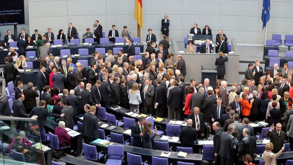 Volles Plenum - in diesen Tagen ein seltener Anblick