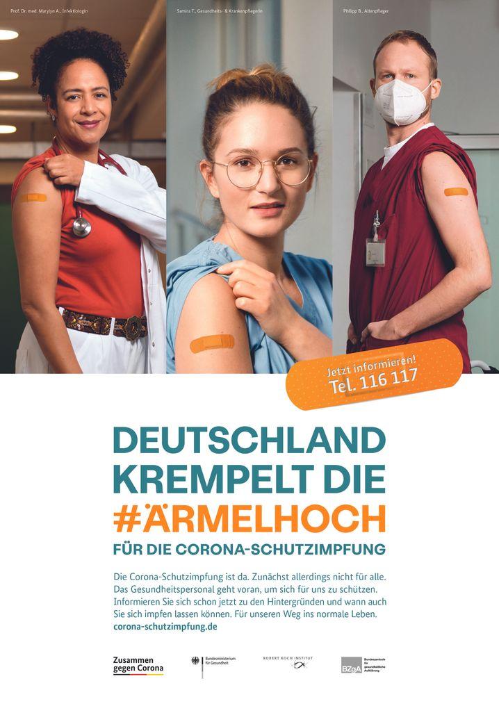 Ein Plakat der Werbekampagne