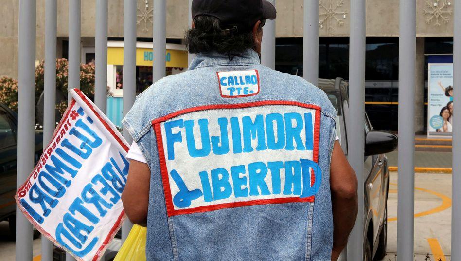 Fujimori-Unterstützer in Lima