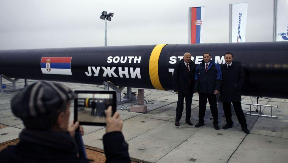South-Stream-Pipeline (Archivbild): Streit um milliardenschweres Bauprojekt