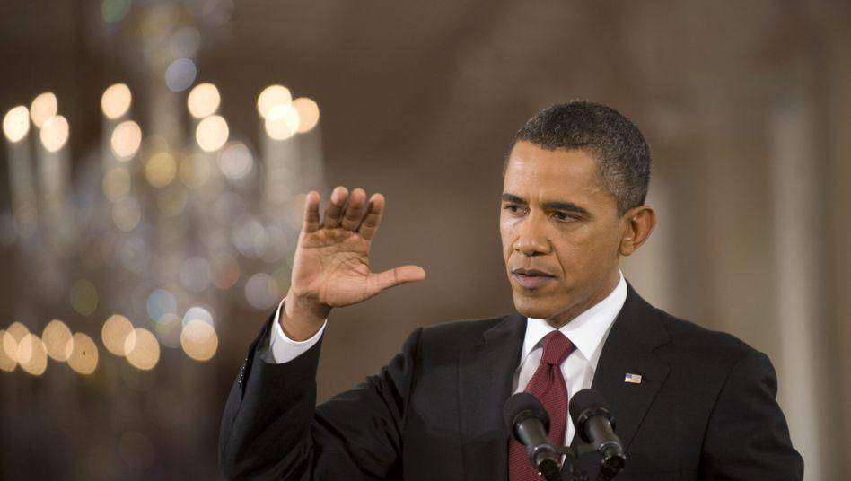 """Barack Obama vor der Presse: """"Ich muss bessere Arbeit leisten"""""""