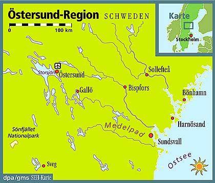 Die Östersund-Region nördlich von Stockholm