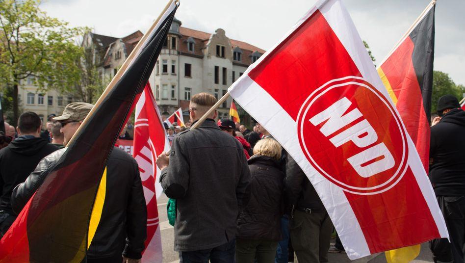 Kundgebung der rechtsextremen NPD