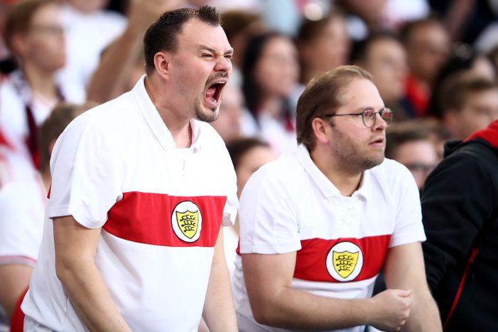 Wütende Stuttgarter Fans