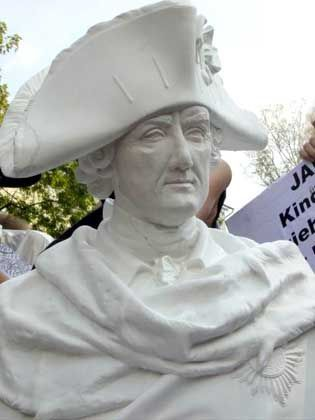 Denkmal für den Größten: Landowsky als Alter Fritz