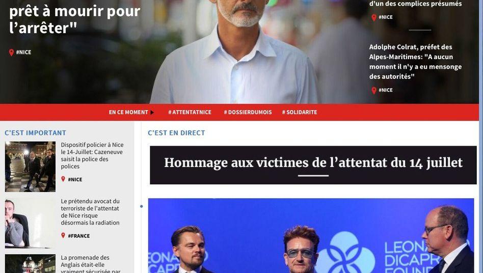 """Homepage von """"Nice-Matin"""""""