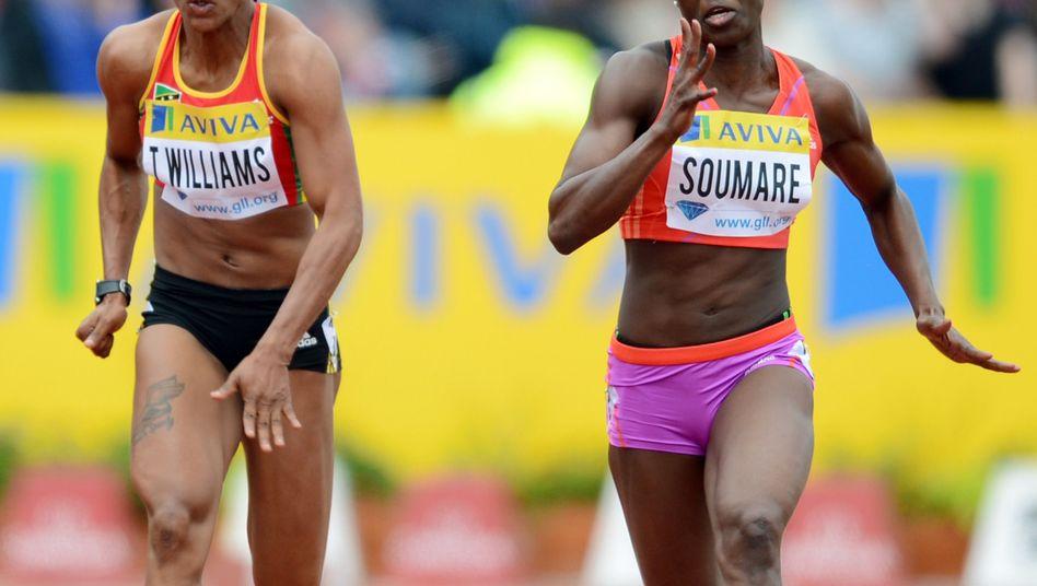 Sprinterin Williams (l.): Bereits die Heimreise angetreten