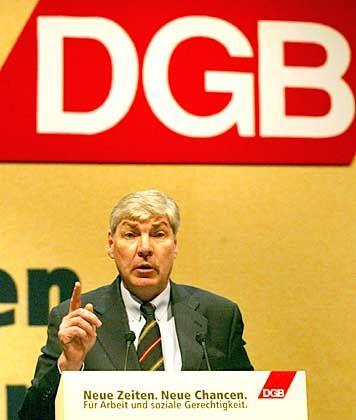 DGB-Chef Michael Sommer: vertritt kaum mehr 25 Prozent der Arbeitnehmer