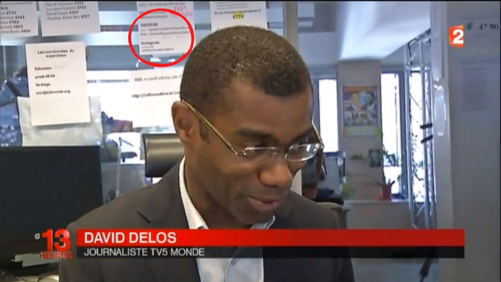 NUR ALS ZITAT Screenshot/ 13 Heures besucht TV5-Redaktion/ Interview/ Passwort