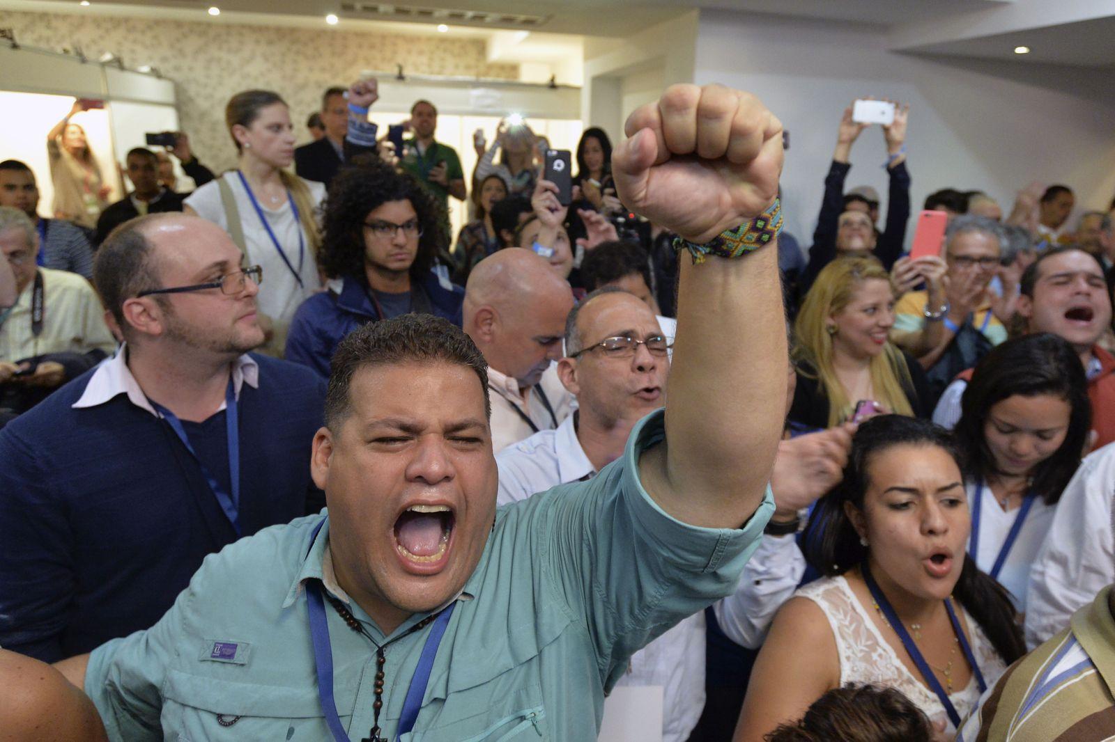 VENEZUELA-ELECTION-MUD-CELEBRATION