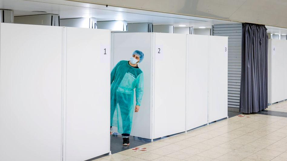 Corona-Testzentrum in Essen