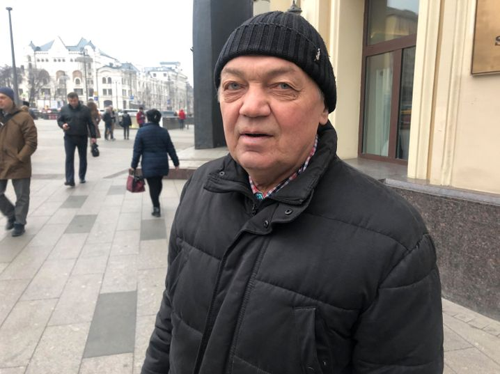 """Anatolij Korystin, 70 Jahre alt: """"Nur, wenn sie jemanden anbieten können, der Putin ersetzen kann."""""""