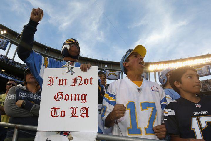 """Fans der San Diego Chargers: """"Ich gehe nicht nach LA"""""""