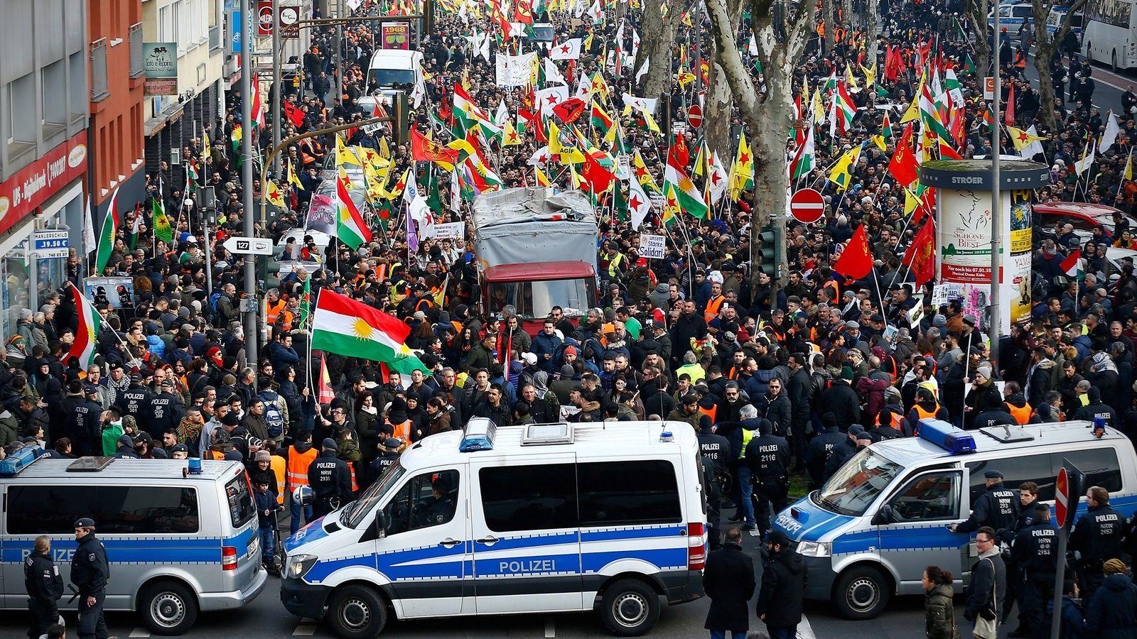 Demonstration/ Kurden