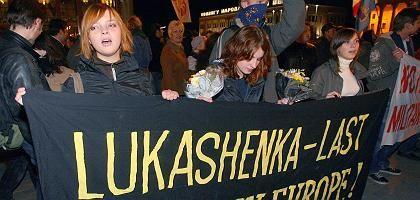"""Protest gegen Lukaschenko: """"Wahlfarce für den Westen"""""""