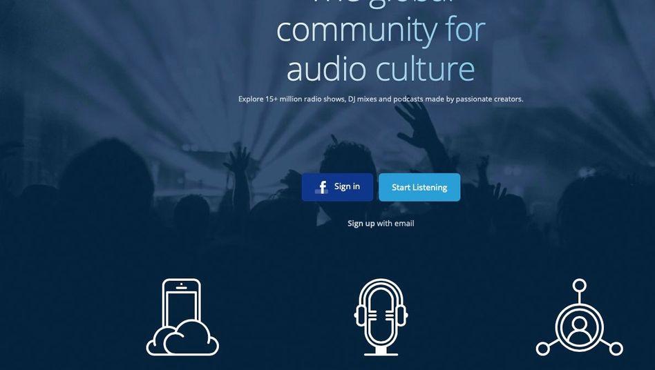Website von Mixcloud: DJ-Mixe und Podcasts
