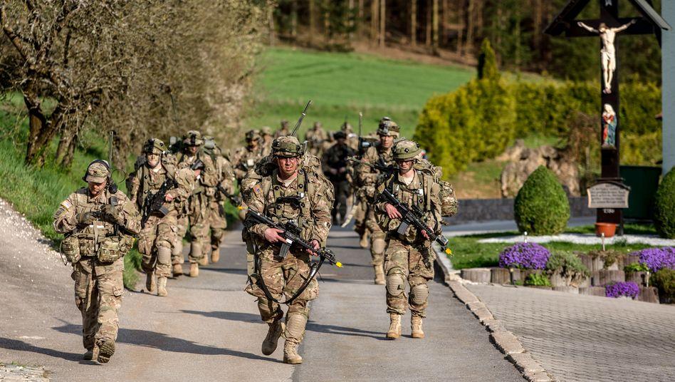 US-Soldaten üben nahe Grafenwöhr in Bayern (Archivbild)