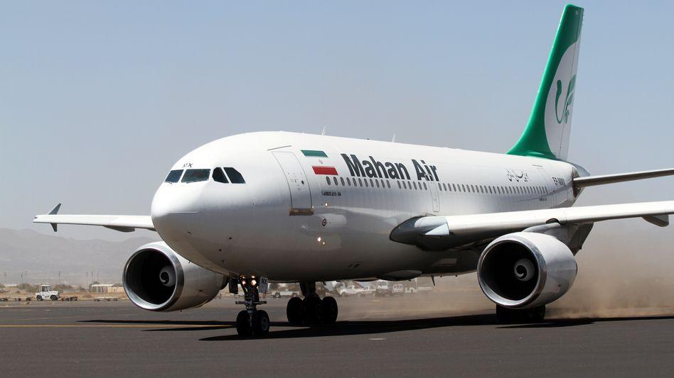 Ein Airbus A310 der iranischen Airline Mahan Air