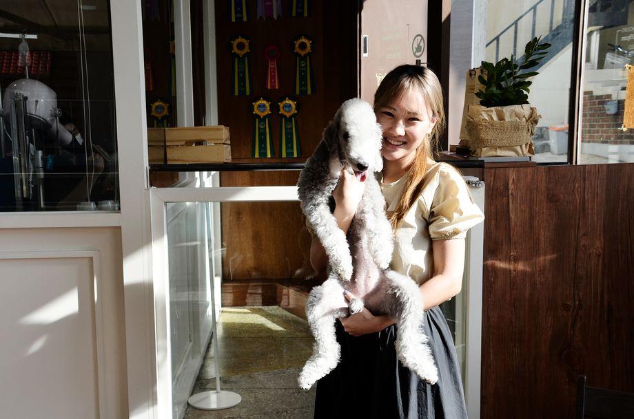 Lim Seo-yeon betreibt einen Hundesalon in Südkoreas Hauptstadt Seoul. Auch sie möchte kein Kinder haben - sie habe ihre Hunde, sagt sie