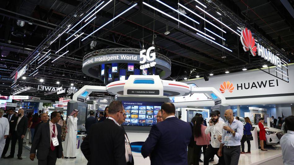 Huawei-Messestand Anfang Oktober in Dubai: