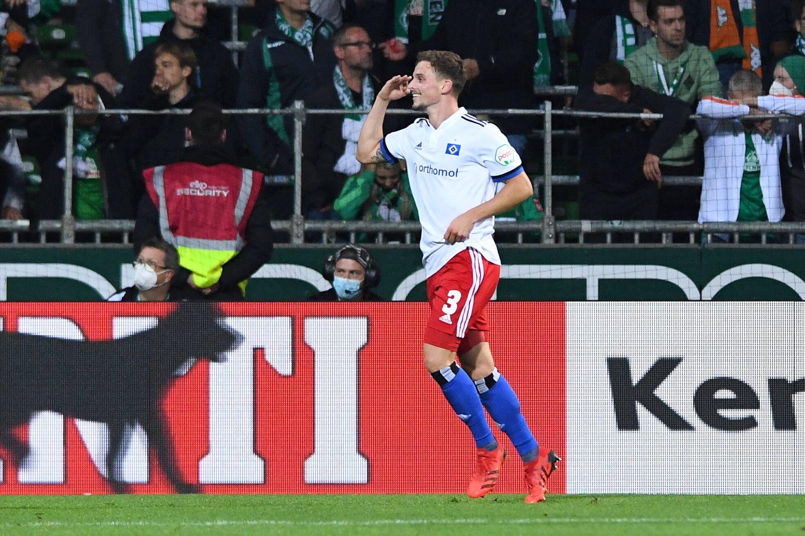 Fußball 2. Bundesliga 7. Spieltag SV Werder Bremen - Hamburger SV am 18.09.2021 im wohninvest Weserstadion in Bremen Tor