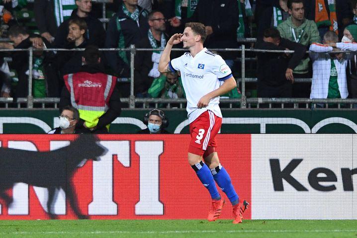 Moritz Heyer zeigte gegen Werder eine beeindruckende Leistung
