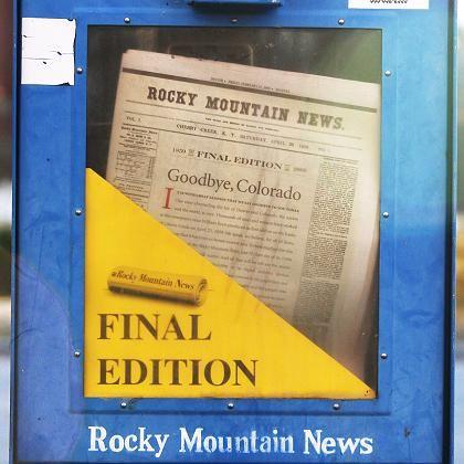 """Rocky Mountain News in einem """"Stummen Verkäufer"""": Nach 150 Jahren die letzte Ausgabe"""