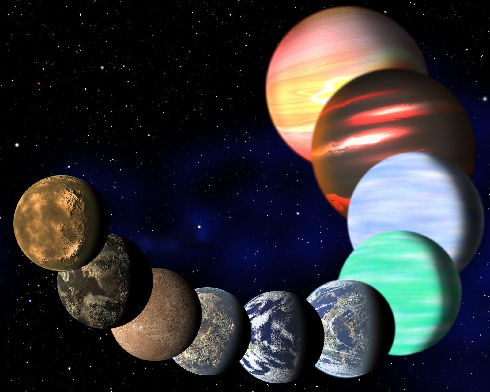 EINMALIGE VERWENDUNG Planeten / Milchstrasse / Kepler