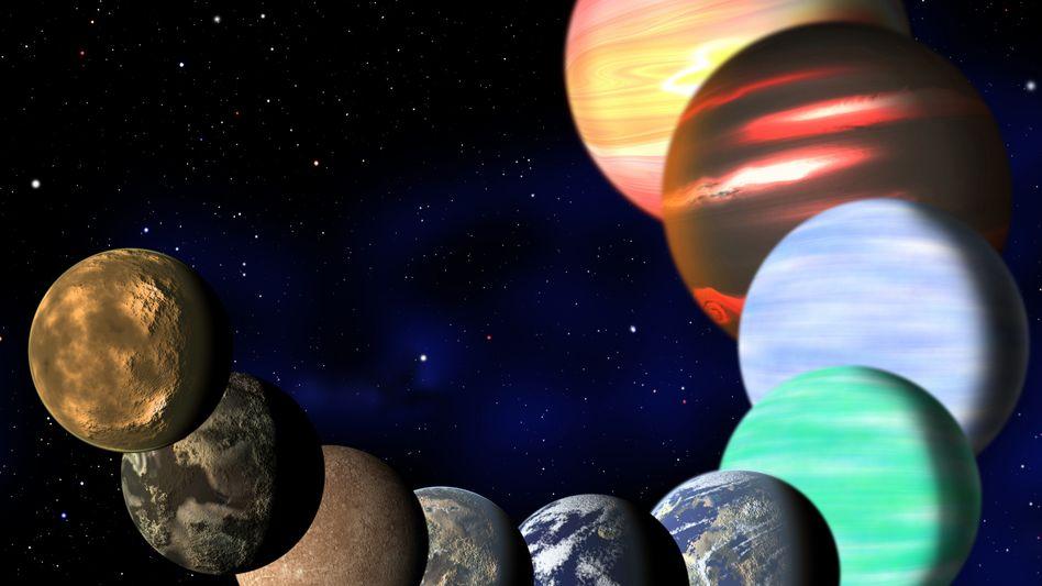 Exoplaneten (Zeichnung): Milliarden Exemplare in der Milchstraße