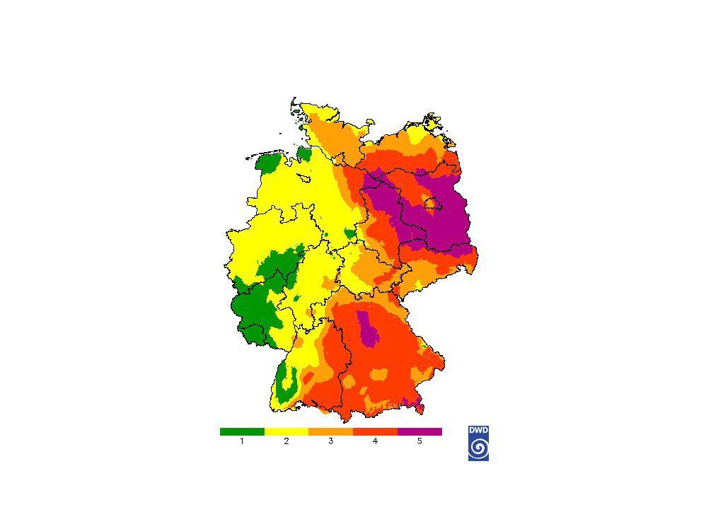 EINMALIGE VERWENDUNG Waldbrandgefahrenindex (WBI) / 24.04.19