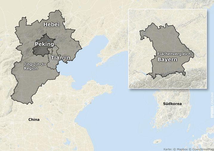 Jing-Jin-Ji im Vergleich zu Bayern