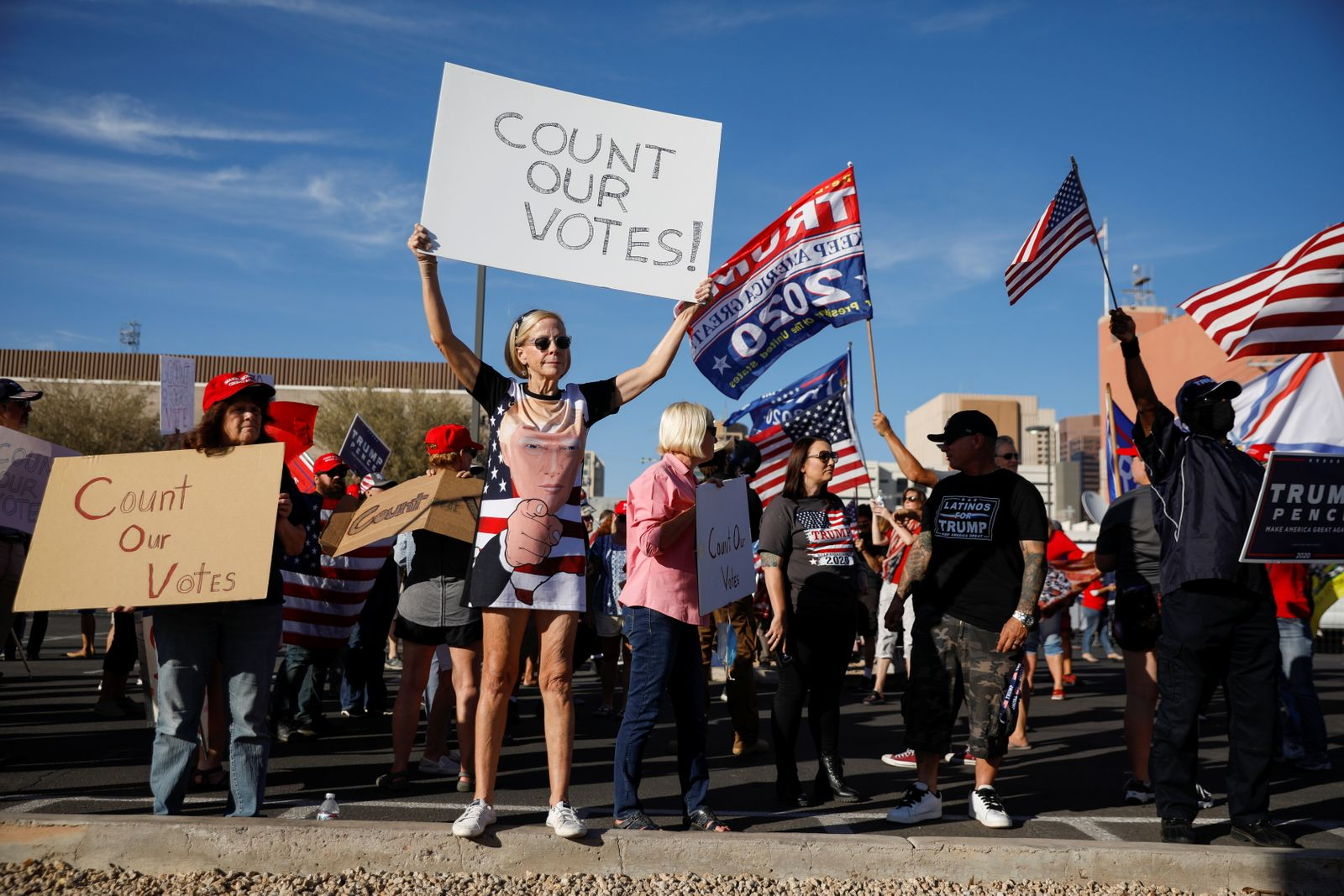 Protest following the 2020 U.S. presidential election, in Phoenix