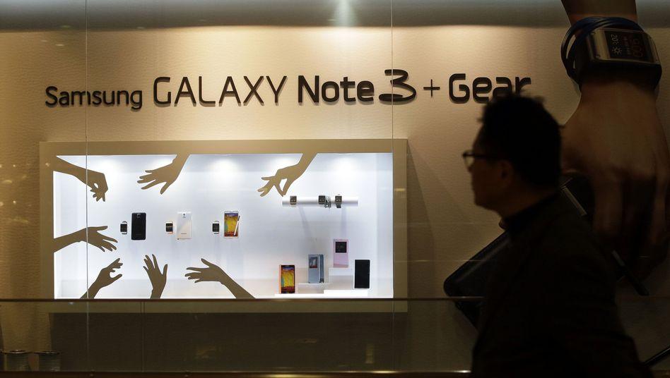 Samsung-Schaufenster in Seoul: Erbitterter Streit um Patente in der Branche