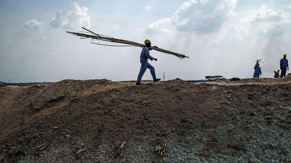 Kupferminenarbeiter in Sambia