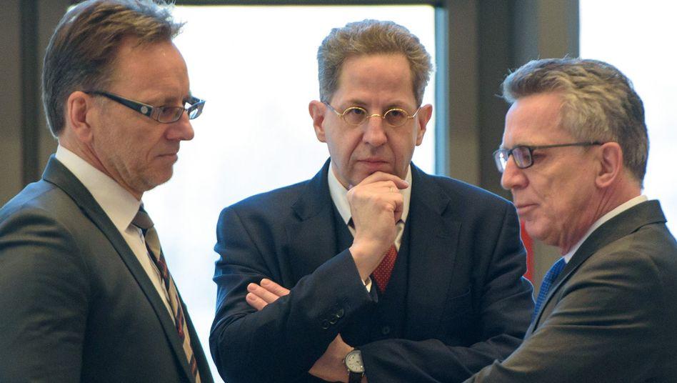 BKA-Chef Münch, Verfassungsschützer Maaßen, Innenminister de Maizière