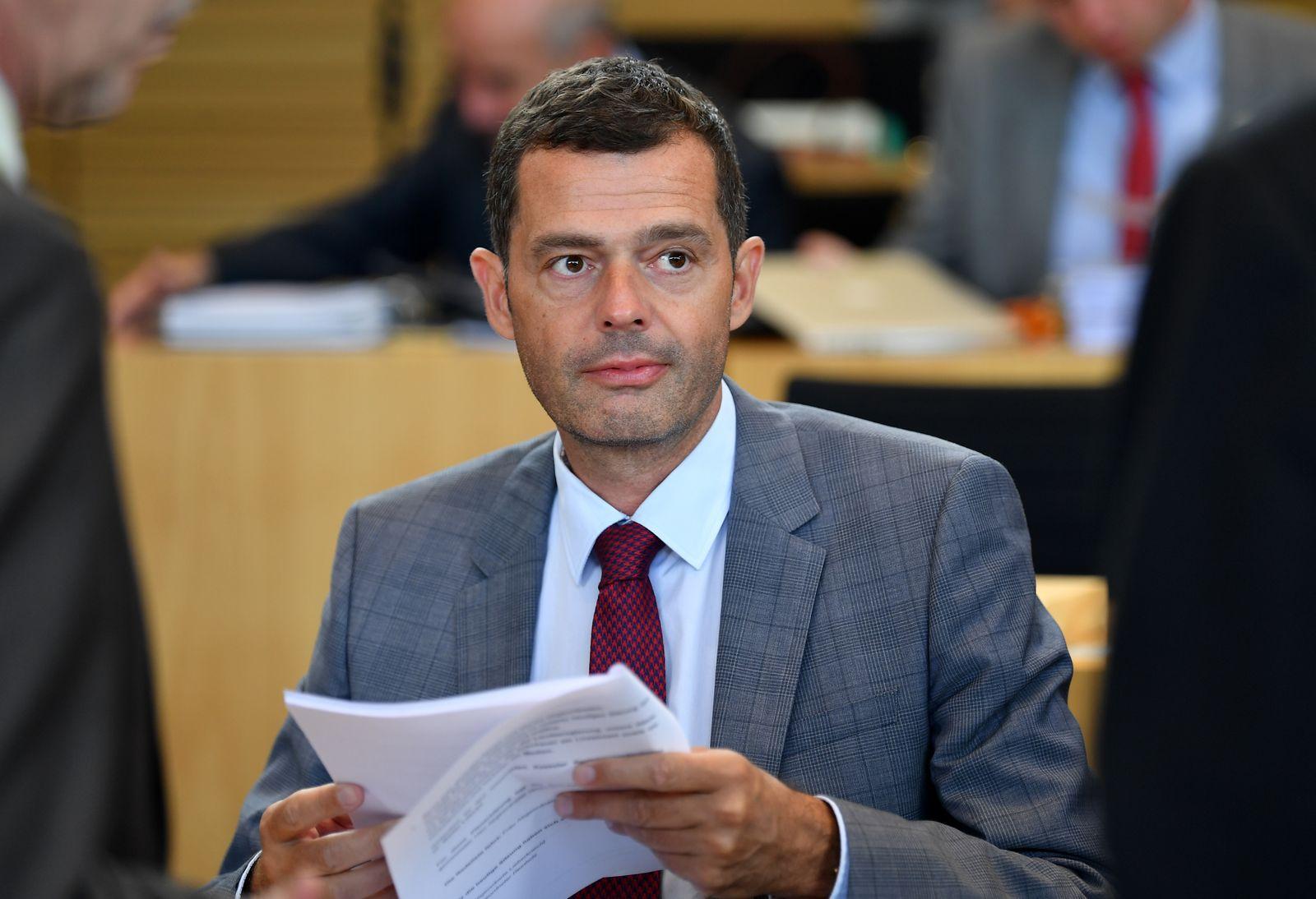 EINMALIGE VERWENDUNG Mike Mohring/ Landtagssitzung Thüringen