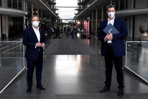 Armin Laschet und Markus Söder in Berlin