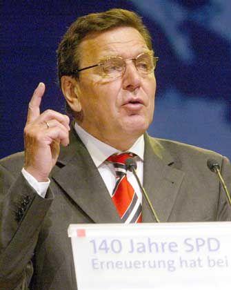 Kämpferisch: Schröder