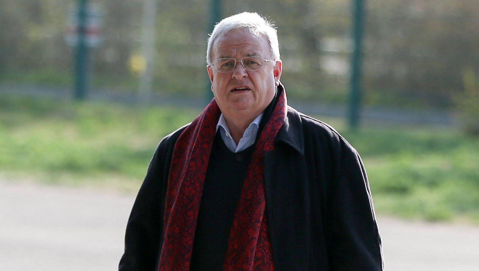 ehemaliger Vorstandsvorsitzender der Volkswagen AG Martin Winterkorn kommt an der Allianz Arena an