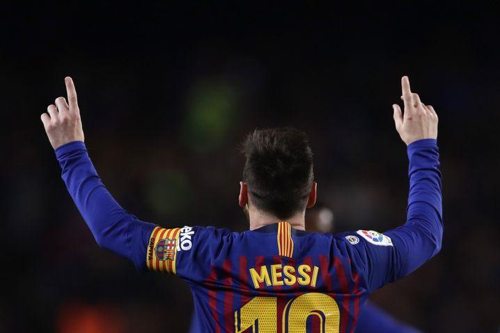 Lionel Messi feiert