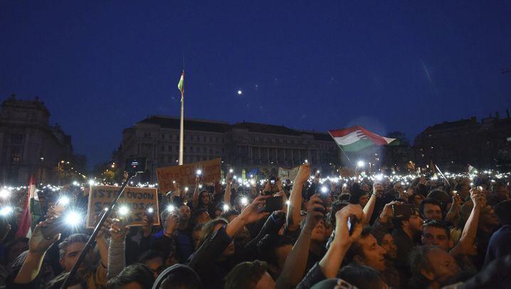 """Proteste in Ungarn: """"Freies Land, freie Universität!"""""""
